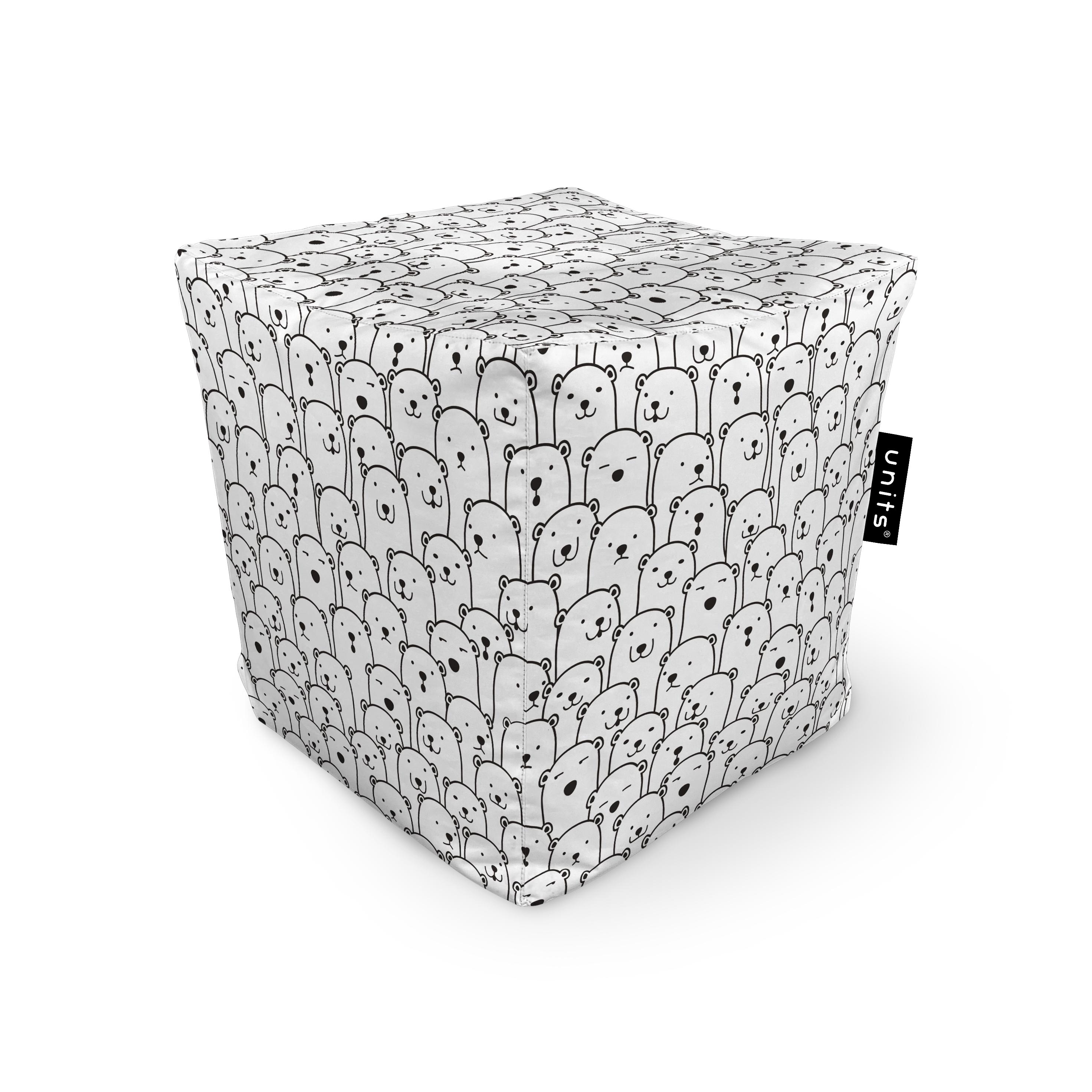 Fotoliu units puf (bean bags) tip cub, impermeabil, alb cu ursi imagine