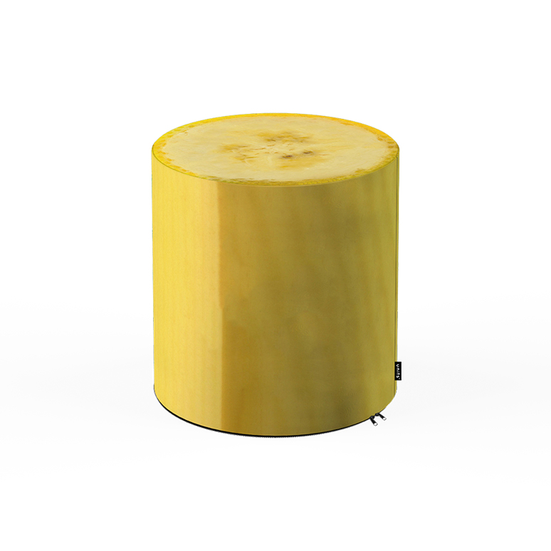 Taburet units, cilindru, banana, 30 x 30 cm imagine