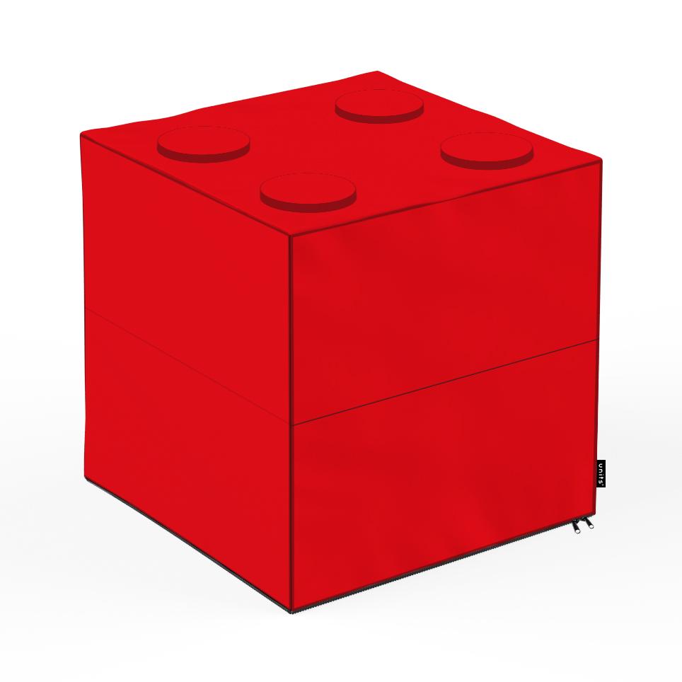 Taburet units, cub, lego, 45 x 45 x 45 cm imagine