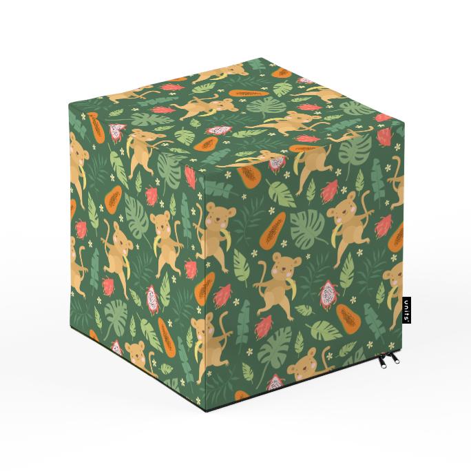 Taburet units, cub, maimute, 30 x 30 x 30 cm imagine