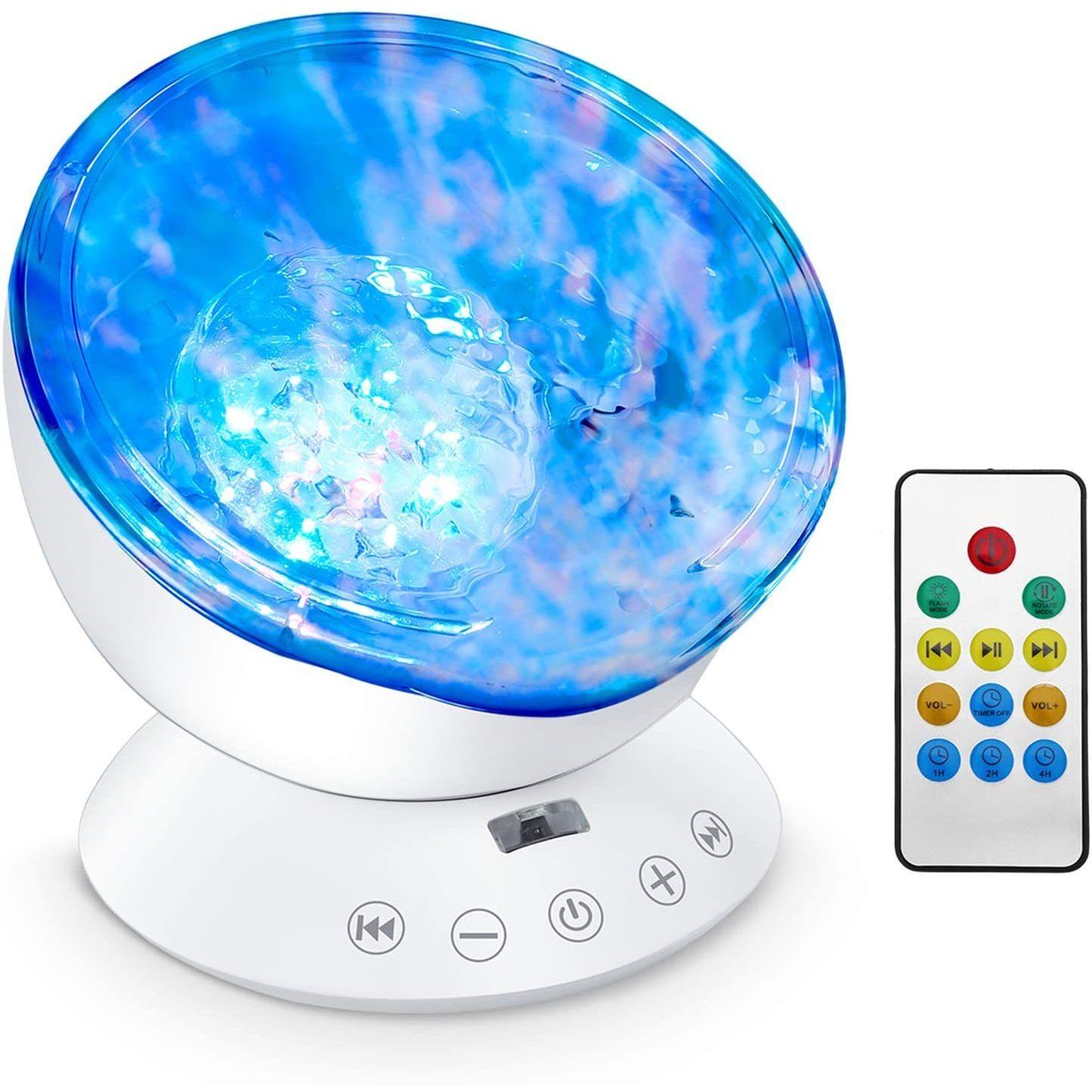 Lampa de veghe cu proiector si sunete Ocean Wave Bambinice BN022 imagine