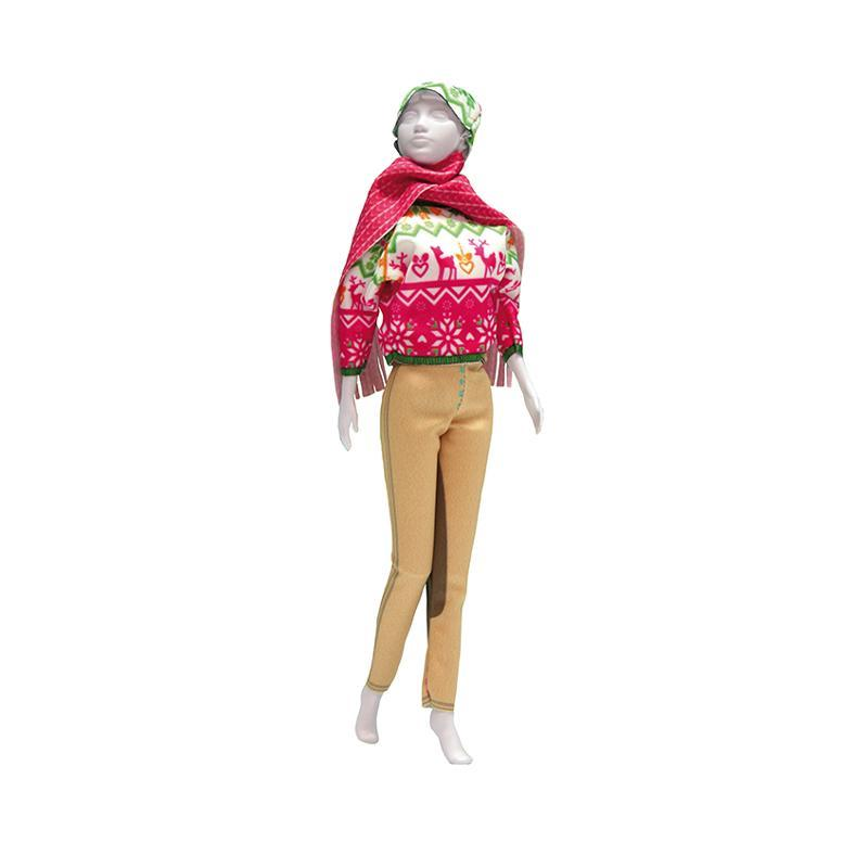 Set de croitorie hainute pentru papusi Couture Kathy Pink, Dress Your Doll