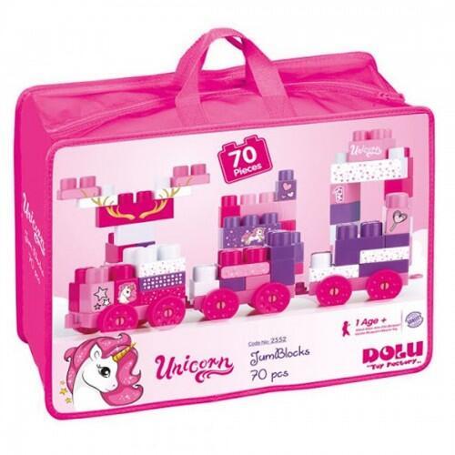 Cuburi de construit unicorn - 70 piese