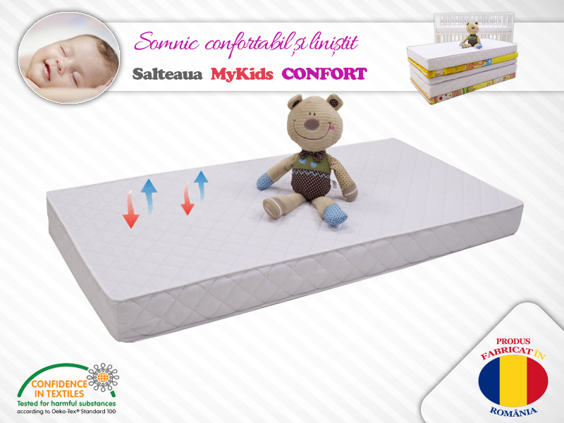 Saltea MyKids Cocos Confort II 127x63x10 cm imagine