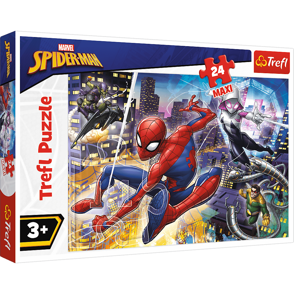 Puzzle Trefl Maxi Marvel Spider Man, Curajosul Spider Man 24 piese