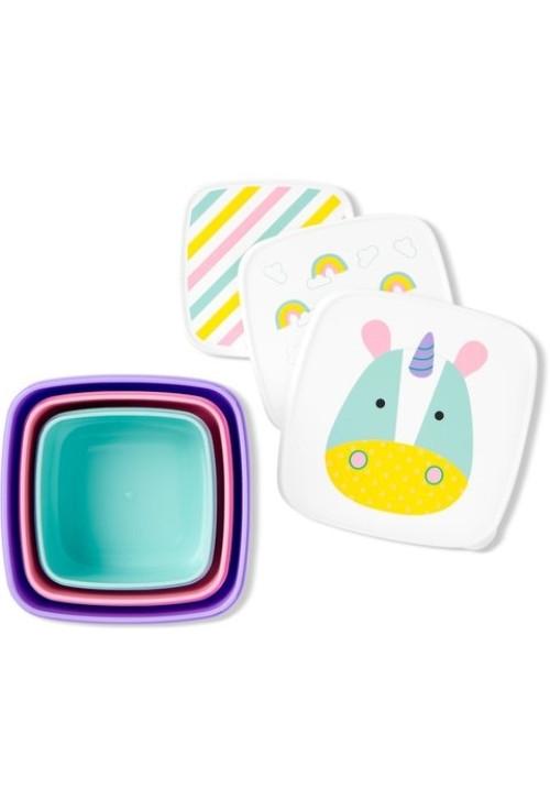 Skip hop set 3 cutii pentru pranz zoo - unicorn imagine