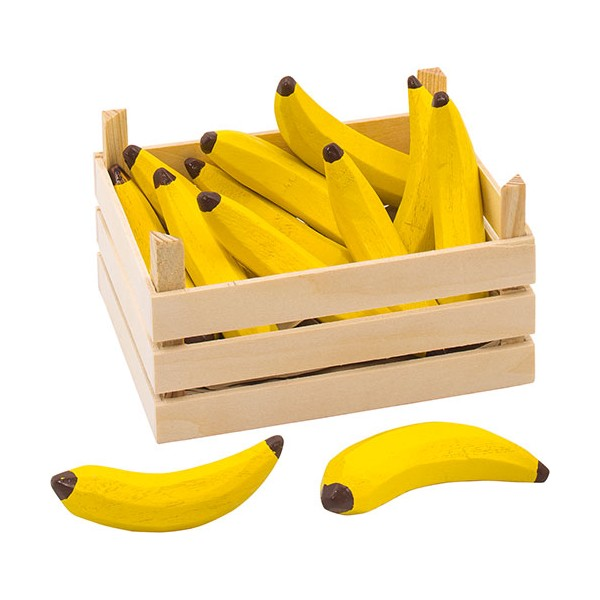 Banane din lemn in ladita