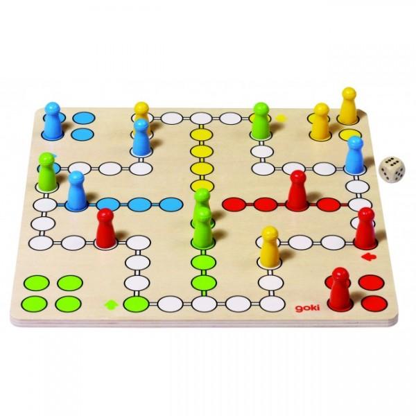 Joc din lemn Ludo imagine