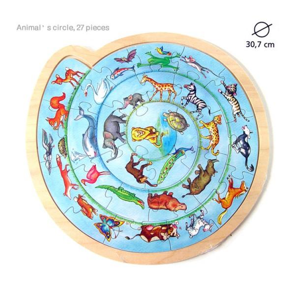 Puzzle rotund Cercul animalelor imagine