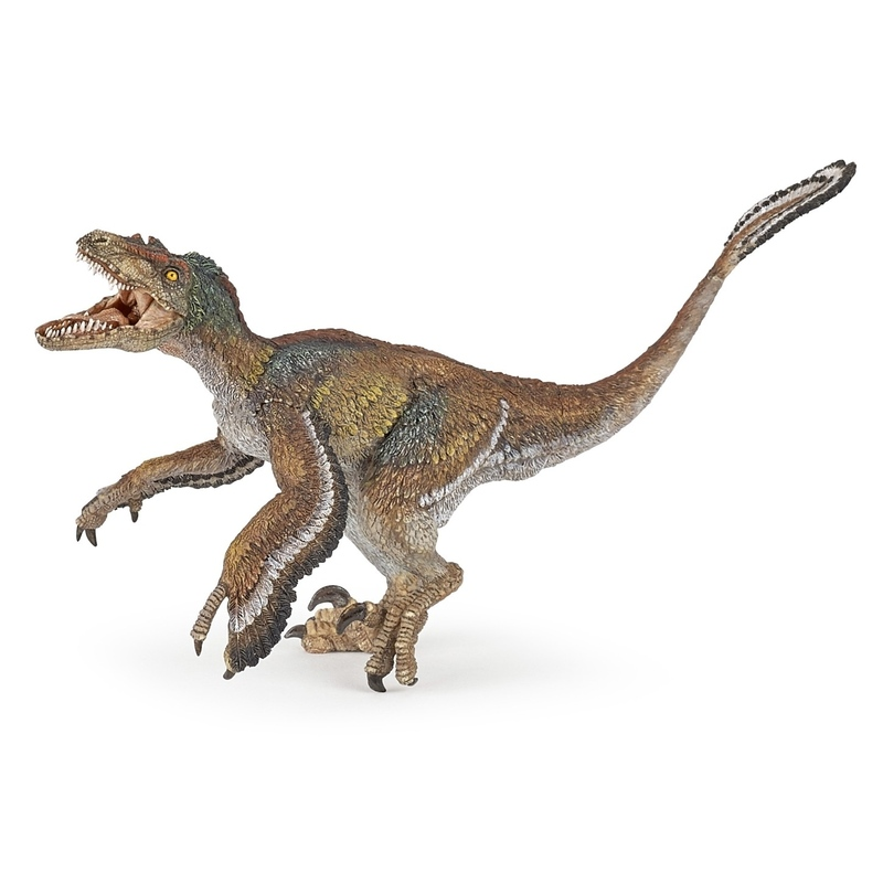 Figurina Papo-Velociraptor cu pene