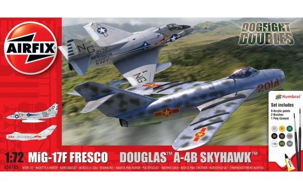 Kit constructie Airfix Avion Mig 17 & Douglas Skyhawk Dogfight Double