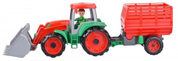 Tractor cu remorca Lena Truxx pentru copii Portocaliu