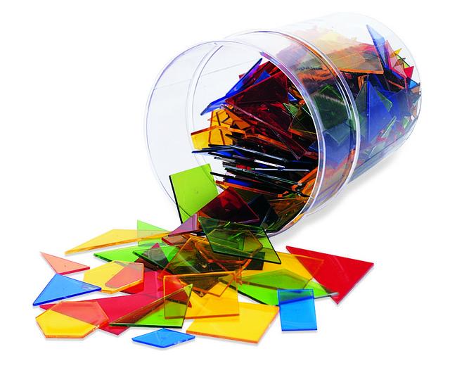 Poligoane Colorate - Set 450 Buc imagine