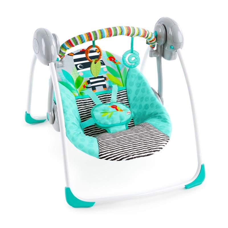 Bright Starts - Leagan portabil Swing Zig Zag Zebra imagine