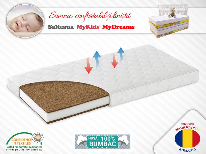 Saltea Fibra Cocos MyKids MyDreams II 160x65x12 (cm) imagine