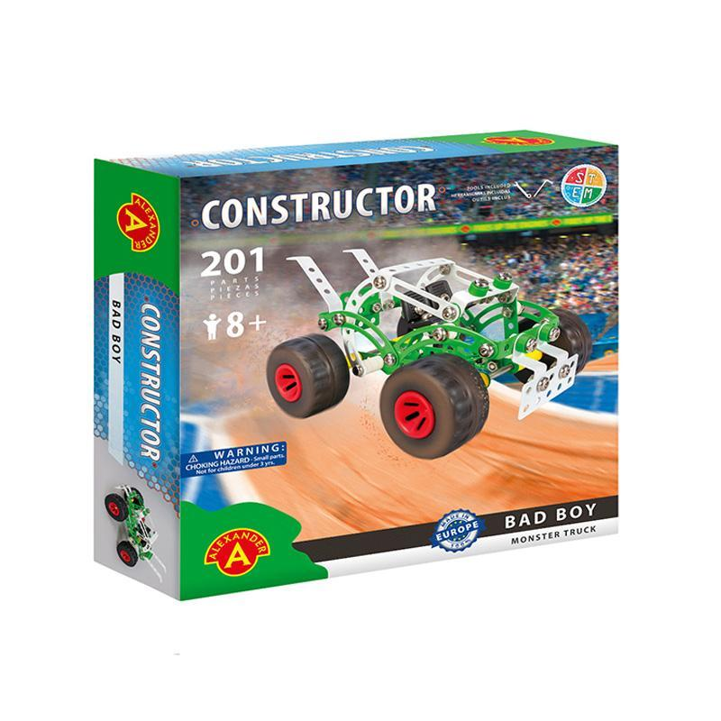 Set constructie 201 piese metalice Constructor-Bad Boy Monster Truck, +8 ani Alexander