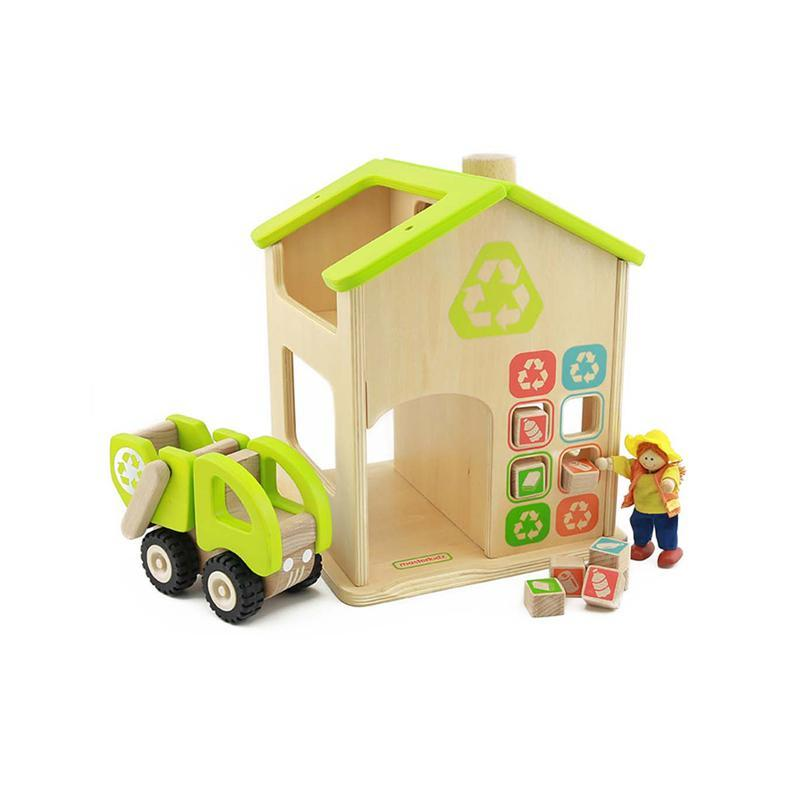 Statie de reciclare de jucarie, din lemn, +3 ani, Masterkidz, pentru gradinite