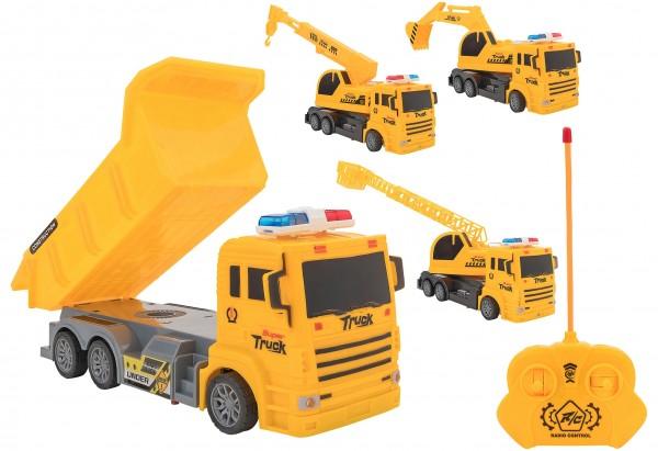 Camion constructie cu telecomanda Globo Trucks cu lumini si 4 functii