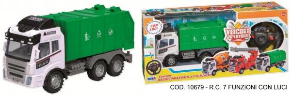 Masina de gunoi cu telecomanda cu lumini RS Toys