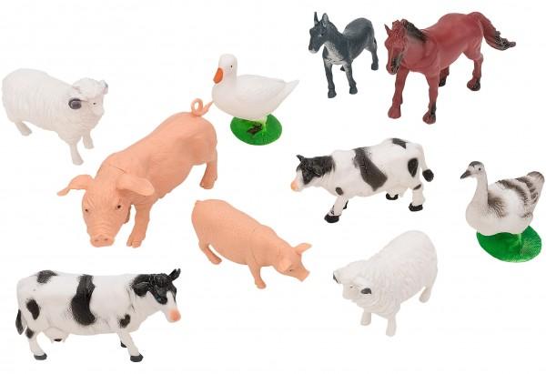 Set 15 piese animale din plastic ferma Globo