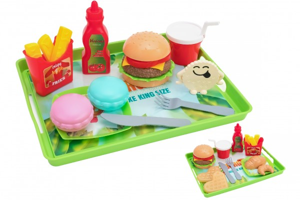 Set fast food 19 piese cu tavita Globo