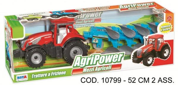 Tractor cu remorca scara 1:24 cu frictiune