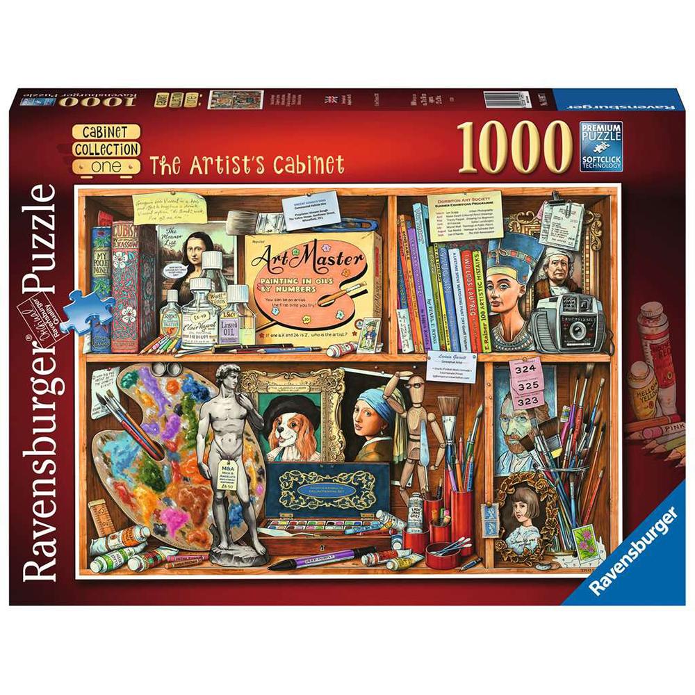 PUZZLE CABINETUL ARTISTULUI, 1000 PIESE