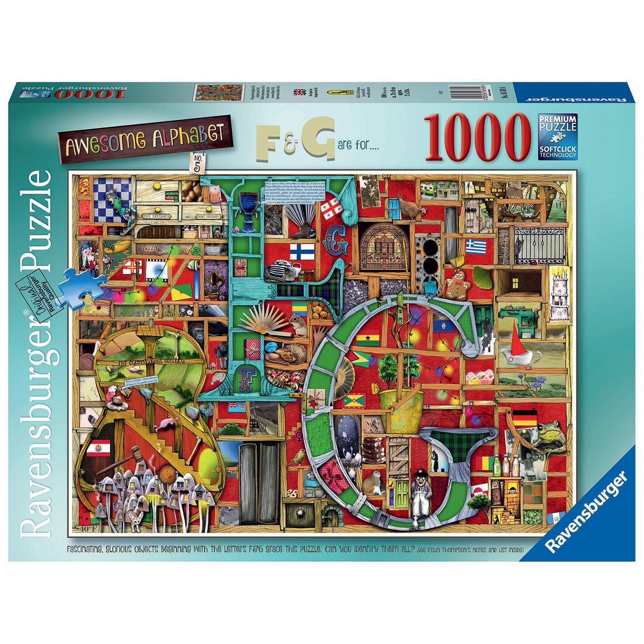 PUZZLE ALFABET COLIN THOMPSON, 1000 PIESE