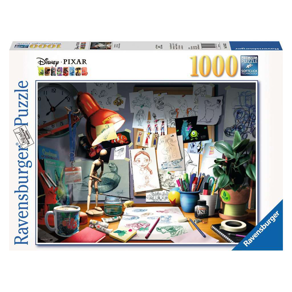 PUZZLE BIROUL ARTISTULUI, 1000 PIESE