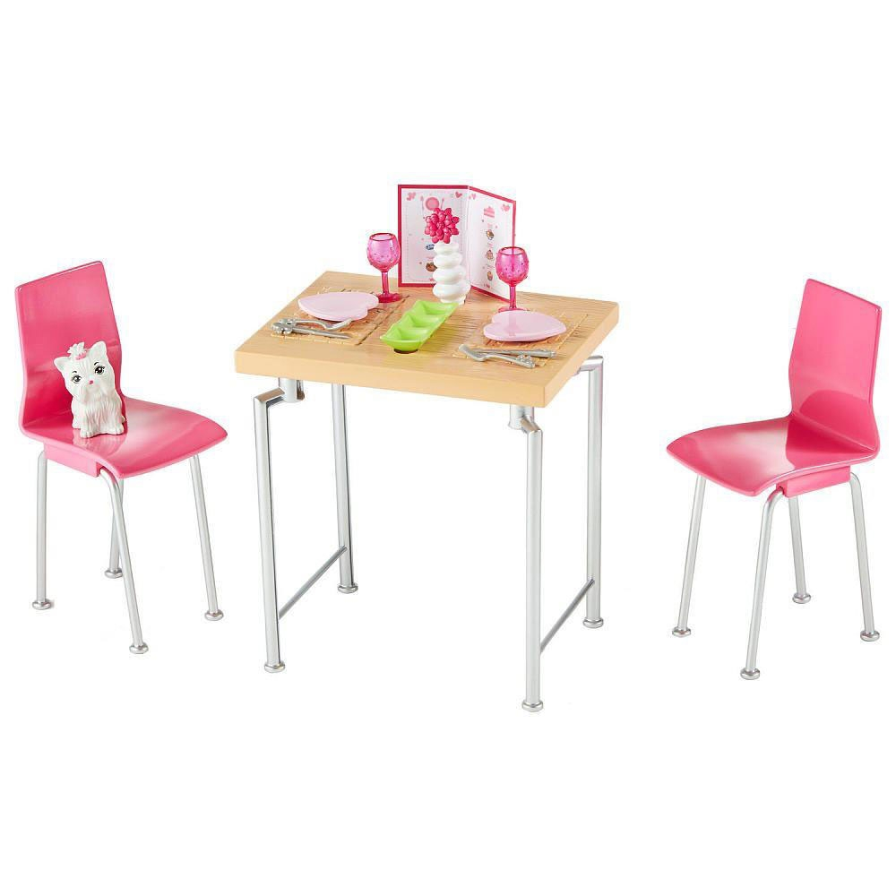 Set Barbie by Mattel Estate Masa cu scaune si accesorii DVX45