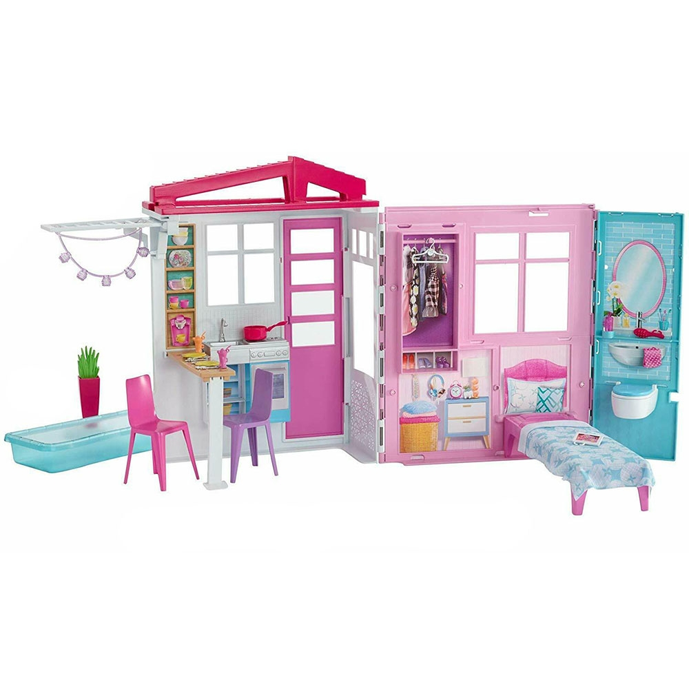 Casuta pentru papusi Barbie by Mattel cu accesorii