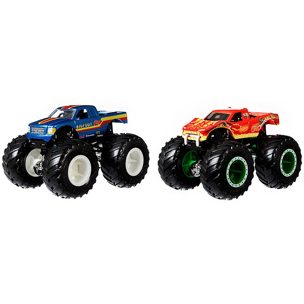Set Hot Wheels by Mattel Monster Trucks Bigfoot vs Snake Bite