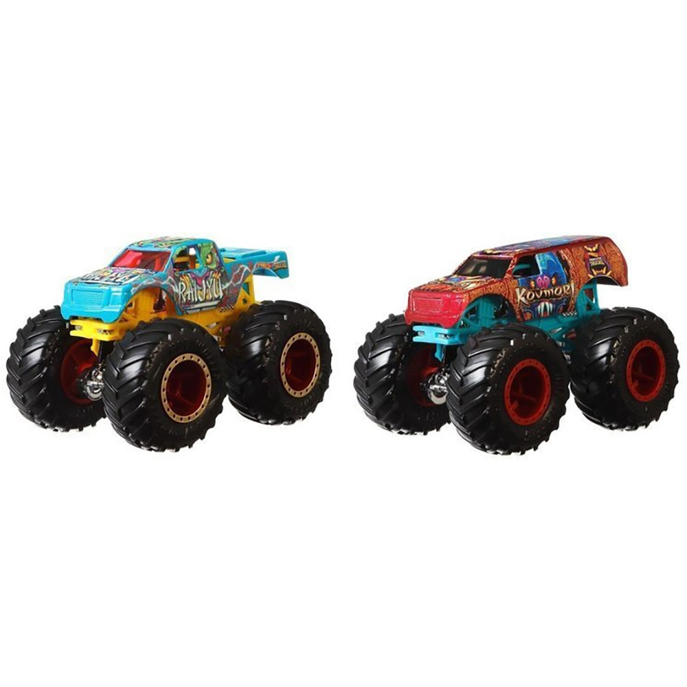 Set Hot Wheels by Mattel Monster Trucks Raijyu vs Kovmorj
