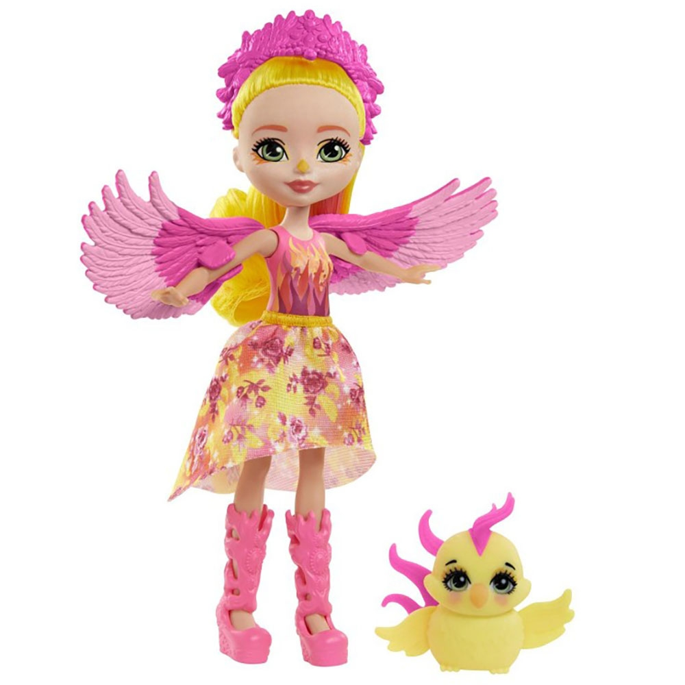Papusa Enchantimals by Mattel Falon Phoenix cu figurina Sunrise