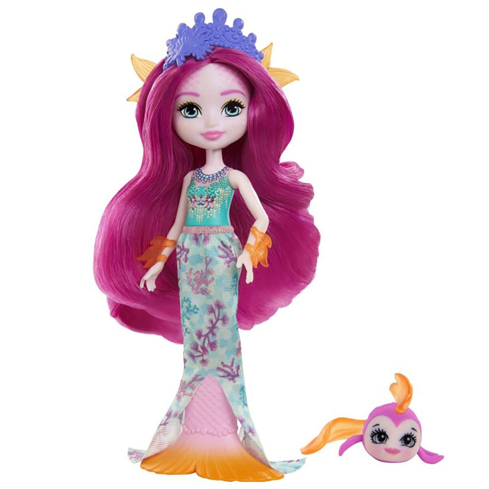 Papusa Enchantimals by Mattel Maura Mermaid cu figurina Glide