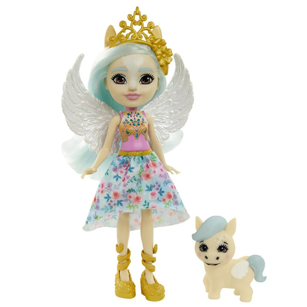 Papusa Enchantimals by Mattel Paolina Pegasus cu figurina Wingley