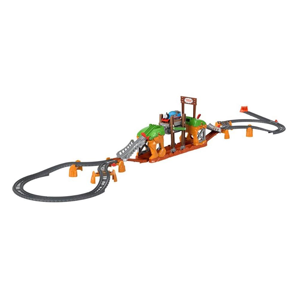 Set Fisher Price by Mattel Thomas and Friends Walking Bridge cu sina si locomotiva motorizata