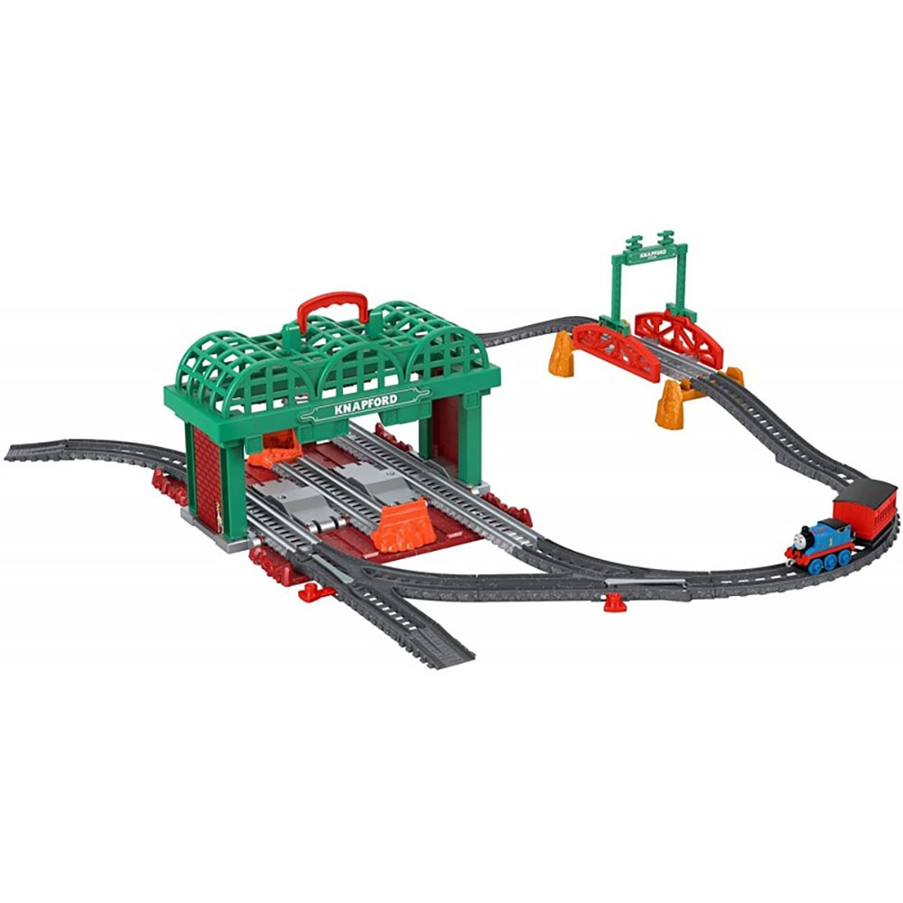 Set Fisher Price by Mattel Thomas and Friends Knapford Station cu sina, vagon si locomotiva
