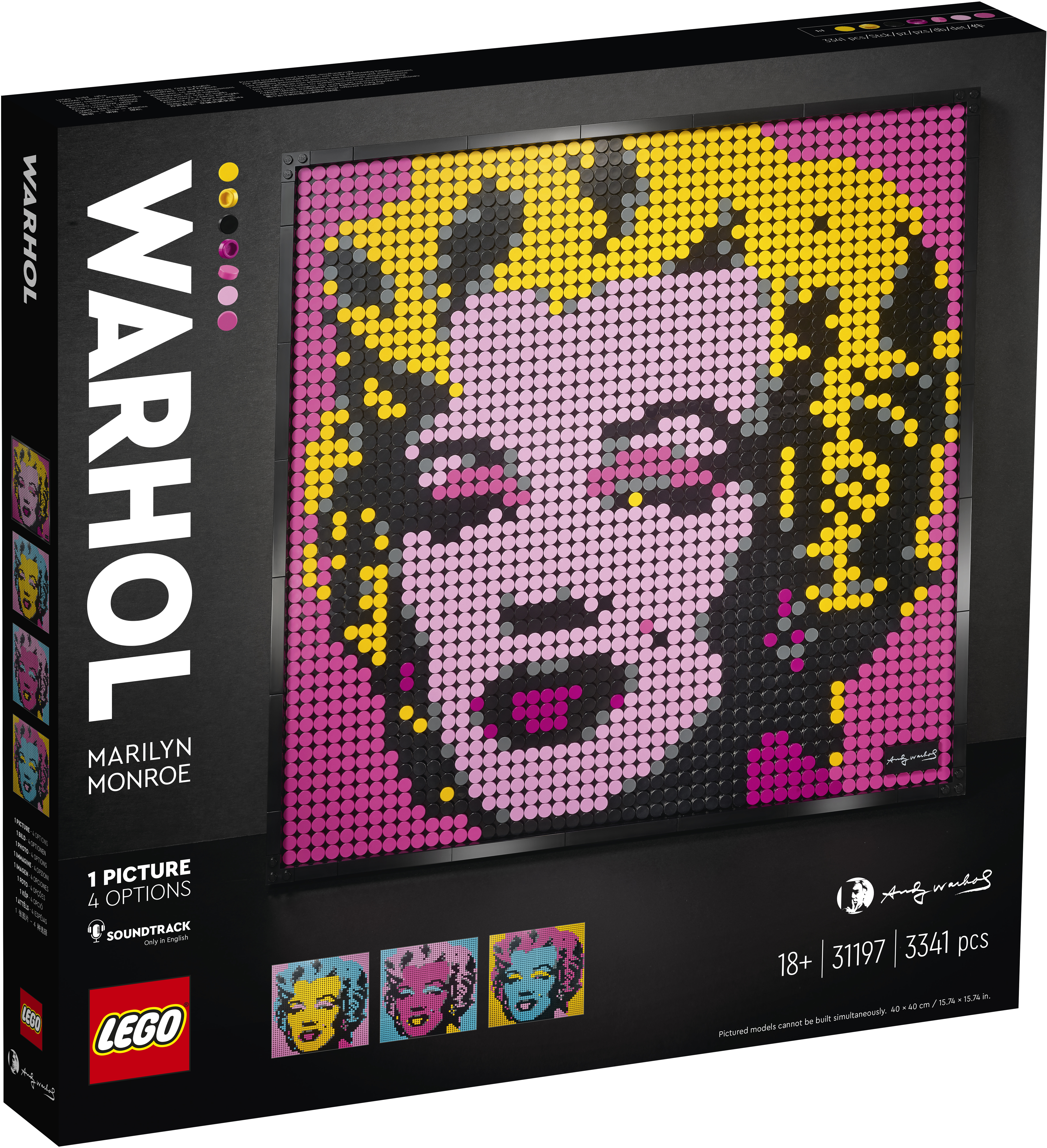 LEGO Art Marilyn Monroe dupa Andy Warhol