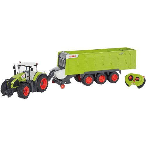 Jucarie Tractor cu Remorca cu Telecomanda RC Claas Axion 870, Scara 1:16