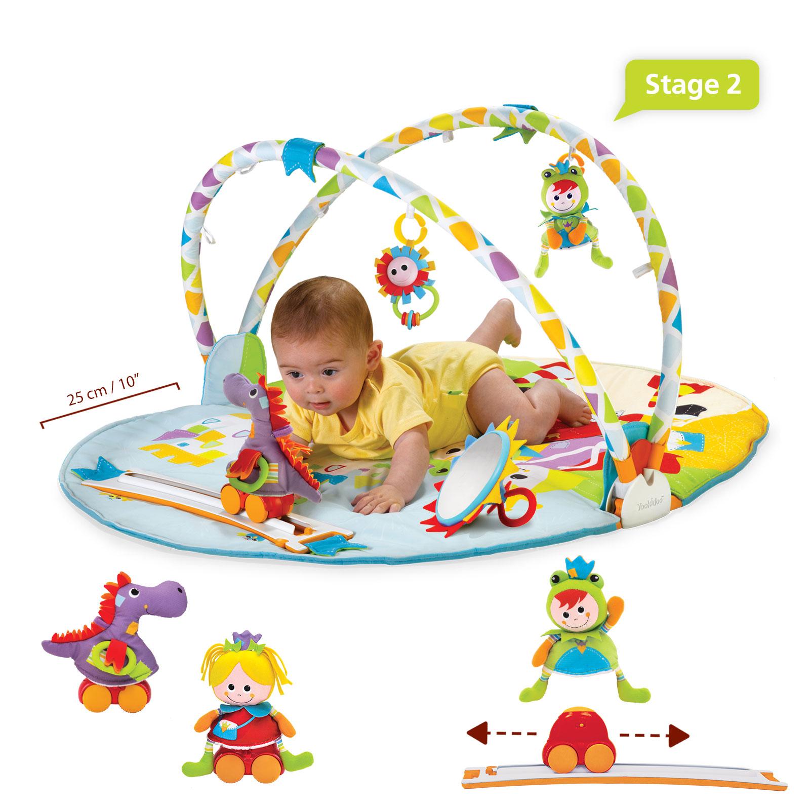 Jucarie centru de joaca cu jucarii mobile si activitati fizice, 0-12 luni, yookidoo
