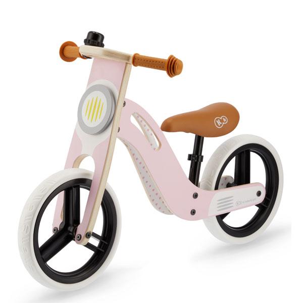 Bicicleta din lemn fara pedale UNIQ Pink
