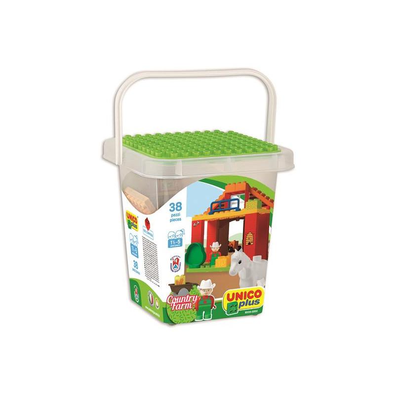 Joc de construit 38 piese Farm Unico A Haberkorn