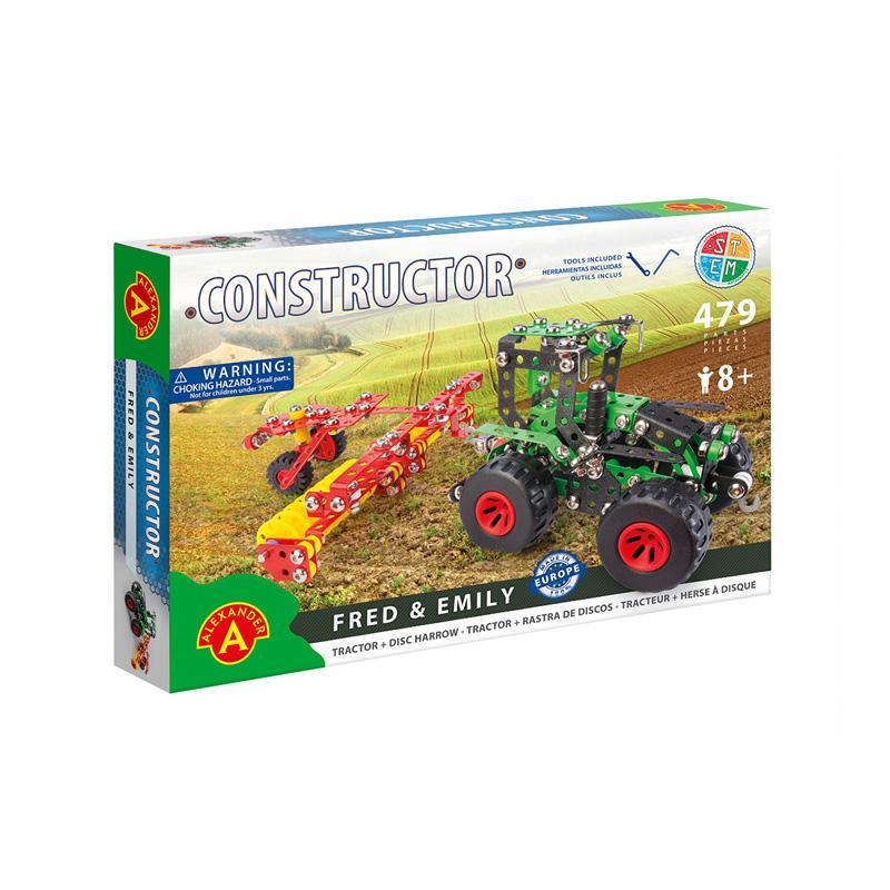 Set constructie 479 piese metalice Constructor-Fred & Emily, +8 ani Alexander
