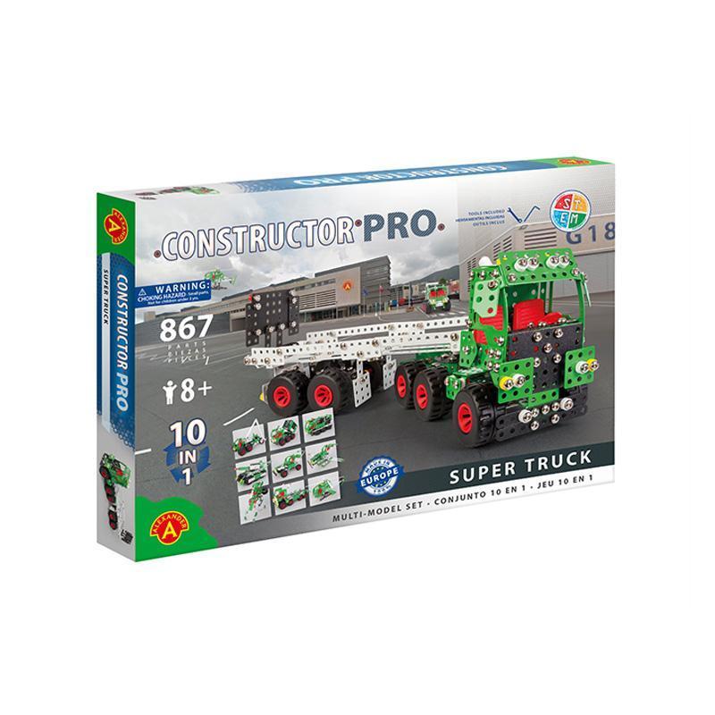 Set constructie 867 piese metalice Constructor-Super Truck (10in1), +8 ani Alexander