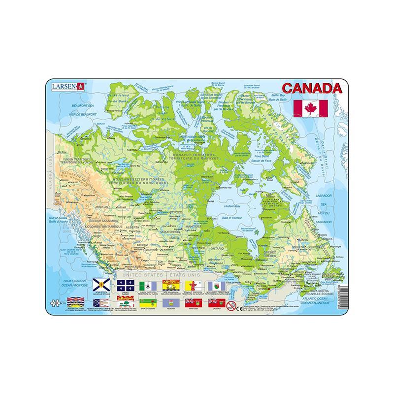 Puzzle maxi Canada, orientare tip vedere, 100 de piese, Larsen