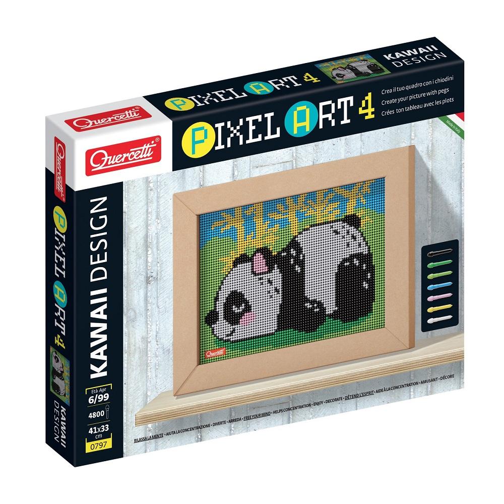 Quercetti Pixel Art Kawaii 4 planse Design Panda