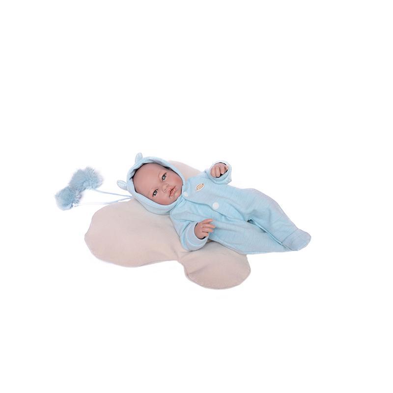Papusa bebelus nou nascut Jaime, fara par, 36 cm, Guca