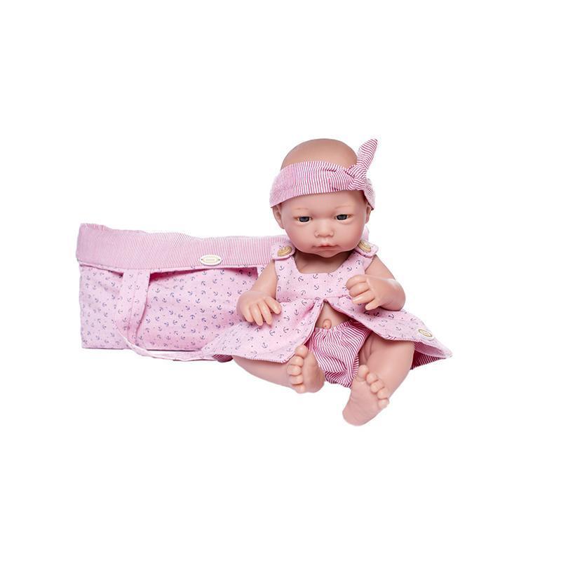 Papusa bebelus nou nascut Carmen, fara par, 36 cm, Guca