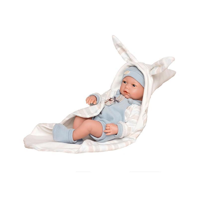 Papusa bebelus realist Abel, fara par, 38 cm, Guca